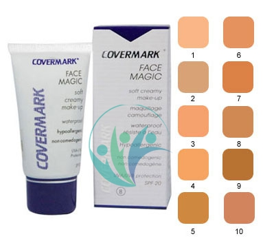 Covermark Linea Face Magic Fondotinta Lunga Tenuta Coprente Viso 30 ml Colore 5